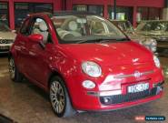 2011 Fiat 500 C Red Mica Manual 6sp M Convertible for Sale