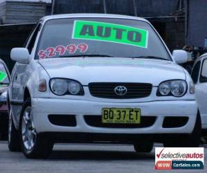 Classic 2001 Toyota Corolla AE112R Ascent White Automatic 4sp A Sedan for Sale