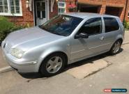 2002 VOLKSWAGEN GOLF GT TDI SILVER (BOLF) 6 SPEED MANUAL NO RESERVE for Sale
