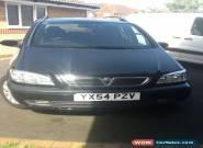 VAUXHALL ZAFIRA ELEGANCE 54 Reg 16V BLACK for Sale