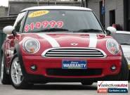 2008 Mini Cooper R56 Red Automatic 6sp A Hatchback for Sale