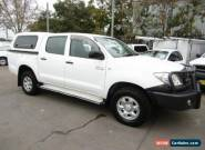 2010 Toyota Hilux KUN26R 09 Upgrade SR (4x4) White Manual 5sp M for Sale