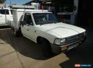 1997 Toyota Hilux RN85R White Manual 5sp M Cab Chassis for Sale