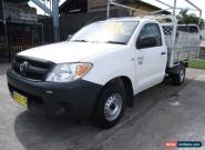 2007 Toyota Hilux TGN16R 06 Upgrade Workmate White Manual 5sp M Cab Chassis for Sale