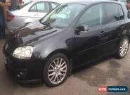 2006 56 VW VOLKSWAGEN GOLF GT TDI 2.0 170 BLACK 5DR SPARES OR REPAIR DRIVEABLE for Sale
