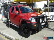 2012 Nissan Navara D40 MY12 ST 4X4 Red Automatic 5sp A Dual Cab Pick-up for Sale