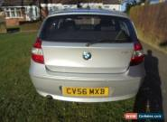 bmw series 1 silver, 5 door 116se petrol, manual for Sale