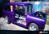 Classic 1977 mini clubman panelvan for Sale