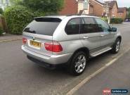 2003 BMW X5 SPORT AUTO SILVER  SATNAV DVD TV for Sale