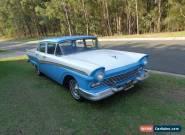 1957 FORD CUSTOM 300 272 AUTO 4 DOOR SEDAN CLEAN CA CAR RUNS CUSTOMLINE FAIRLANE for Sale