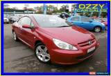 Classic 2004 Peugeot 307 CC Dynamic Maroon Manual 5sp M Cabriolet for Sale