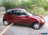 2002 FORD KA COLLECTION RED A/C for Sale