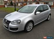 2007 VOLKSWAGEN GOLF GT SPORT TDI 170 SILVER 6 SPEED DIESEL 81K MILES 2 OWNERS  for Sale