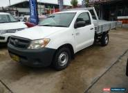 2008 Toyota Hilux TGN16R 08 Upgrade Workmate White Manual 5sp M Cab Chassis for Sale