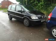 2005 VAUXHALL ZAFIRA DESIGN 16V BLACK LOW MILEAGE NEEDS ATTENTION  for Sale