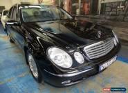 2003 Mercedes-Benz E320 W211 Elegance Obsidian Black Automatic 5sp A Sedan for Sale