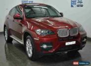 2008 BMW X6 E71 xDrive 35D Burgundy Automatic 6sp A Coupe for Sale