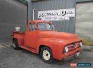 1955 FORD F100 LHD Y BLOCK MANUAL TRANS CLEAN DRY PROJECT TRUCK  for Sale