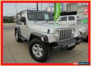 2005 Jeep Wrangler TJ MY2005 Sport Silver Manual 6sp M Softtop for Sale