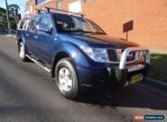 2007 Nissan Navara D40 ST-X (4x4) Blue Manual 6sp M Dual Cab Pick-up for Sale