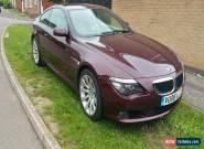 2008 BMW 630I SPORT AUTO RED for Sale