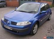 Renault Megane 1.6 16v 5dr hatch, 55 reg, met blue, 10m mot, no reserve auction  for Sale