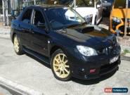 2006 Subaru Impreza MY07 WRX STI Black Manual 6sp M Sedan for Sale