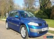 2004 RENAULT MEGANE DYNAMIQUE 16V BLUE LOW MILEAGE 1 YEAR MOT AIR CON ALLOYS CD for Sale