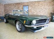 1970 Ford Mustang Green Manual 5sp M Convertible for Sale