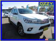 2015 Toyota Hilux GUN126R SR5 (4x4) Glacier White Manual 6sp M Dual Cab Utility for Sale