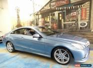 2011 Mercedes-Benz E250 CGI C207 Elegance Blue Automatic 5sp A Coupe for Sale