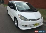 2001 Toyota Estima AERAS G White Automatic 4sp A Wagon for Sale