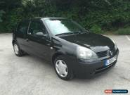 2004 Renault Clio 1.4 16V Petrol Automatic 12 Month MOT Black Extensive History for Sale