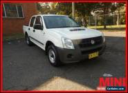 2007 Holden Rodeo LX White Manual M Dual Cab for Sale