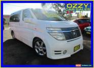 2003 Nissan Elgrand E51 White Automatic 5sp A Wagon for Sale