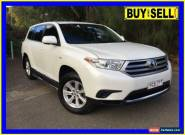 2012 Toyota Kluger GSU40R MY11 Upgrade KX-R (FWD) 7 Seat White Automatic 5sp A for Sale