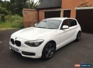 2012 BMW 116D SPORT WHITE ,low miles,excellent condition  for Sale