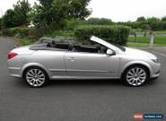 2006 06 REG VAUXHALL ASTRA TWIN TOP CONVERTIBLE DESIGN 2.0 TURBO CHARGED SILVER for Sale