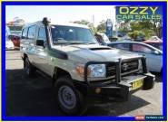 2012 Toyota Landcruiser VDJ79R MY12 Update Workmate (4x4) Beige Manual 5sp M for Sale