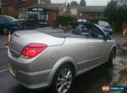 2007 VAUXHALL ASTRA TWIN TOP DESIGN TURBO SILVER for Sale