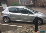 2003 PEUGEOT 307 S AUTO SILVER 1.6 SPARES OR REPAIRS LOW MILES CHEAP CAR for Sale