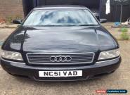2002 Audi A8 Quattro 2.8 Sport 5 Speed Automatic in Black. (Spares or Repair) for Sale