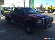 2005 Ford F250 RN XLT (4x4) Maroon Automatic 4sp A Spacecab for Sale