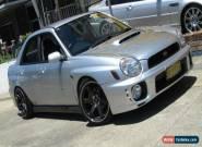 2002 Subaru Impreza MY02 RX (AWD) Silver Manual 5sp M Sedan for Sale