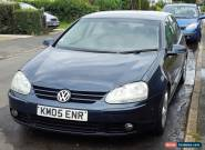 2005 VOLKSWAGEN GOLF mk5 GT TDI BLUE SPARES OR REPAIR RUNNING 132000 MILES for Sale
