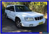 Classic 2001 Subaru Forester MY02 Limited White Manual 5sp M Wagon for Sale