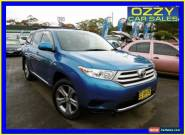 2010 Toyota Kluger GSU45R MY11 Upgrade KX-R (4x4) 7 Seat Blue Automatic 5sp A for Sale