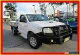 Classic 2010 Toyota Hilux KUN26R MY10 SR White Manual 5sp M 2D CAB CHASSIS for Sale