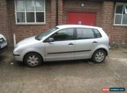 2003 VOLKSWAGEN POLO TWIST SILVER. 1.2  5 DOOR.  SPARES OR REPAIR. for Sale