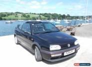 Volkswagen Golf mk3 2.0 convertible Avantgarde, Black. for Sale